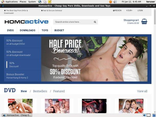 Accounts For Homoactive.com