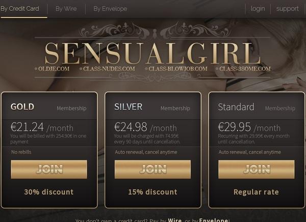 Sensualgirl.com With European Credit Card